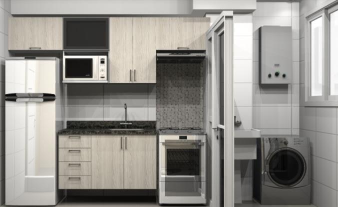 cozinha com moveis sob medida