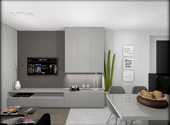 sala projetada com moveis pela GS Marcenaria